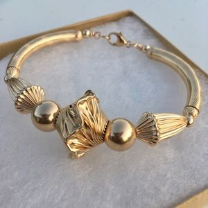 Gold filled chunky bangle
